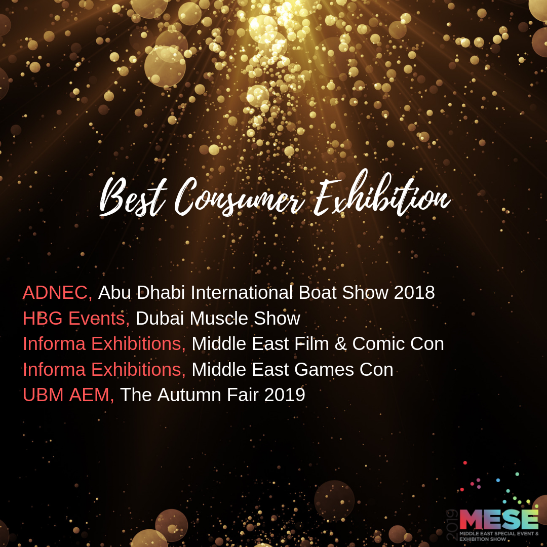 Middle East Special Event Awards short lists Abu Dhabi International Boat Show